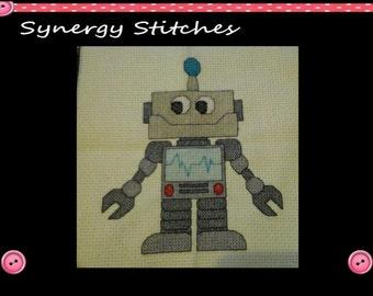 Robot Cross Stitch Pattern