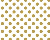 Modern Quilt Fabric, Sparkle Gold Medium Dot, Modern Fabric, Quilting Cotton,Simple Simon & Company, Riley Blake Designs, Polka Dot Fabric