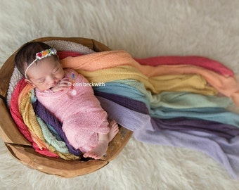 Rainbow Headband, Rainbow Tie Back, Rainbow Baby Headband, Simple Headband, Organic Tie Back, Newborn Photo Prop