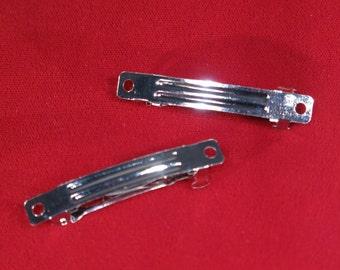 """BULK! 20pc """"silver barrettes"""" hair clips (JC78)"""