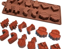 6 Shapes 12 pc Silicone Fondant Baking Mold Mould for Christmas Cake, Jelly, Ice, Chocolate [1559]