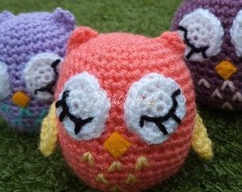 Little Wise Owl - Crochet Owl - Teacher Gift - Handmade Owl