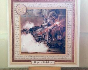 Steam Train Birthday Card * Boys Birthday Card * Train Birthday Card * Handmade Card * Birthday Card * Steam Train Card * Card For Him *