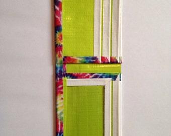 Handmade tie dye duck tape wallet