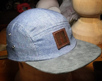 Denim five panel