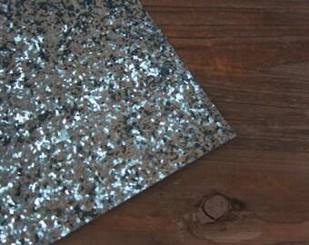 Glitter Material Baby Blue Fabric 8X10 sheet