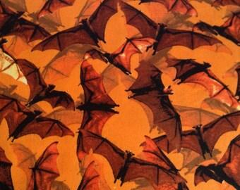SALE- One Yard of Fabric Material - Halloween Bat Swarm