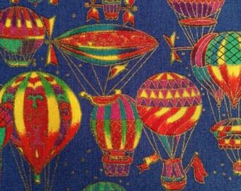 One Half Yard of Fabric Material - Hot Air Balloons