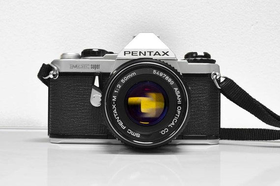 Pentax ME Super 35mm SLR camera - With 50mm lens - vintage camera
