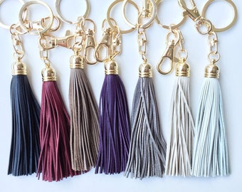 Genuine Leather Tassel keychain