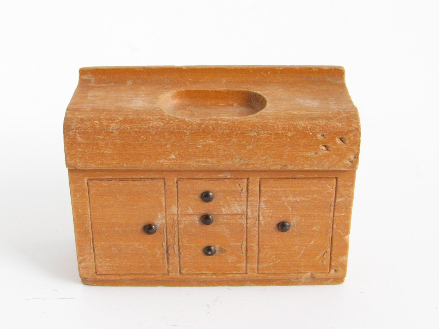 Vintage Nancy Forbes Dollhouse Furniture Doll House Miniature Wooden Sink 3 4 Scale Kitchen
