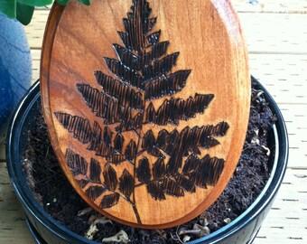 Fern leaf woodburn