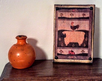 Wood Sheep Picture 1/12 Scale   17076