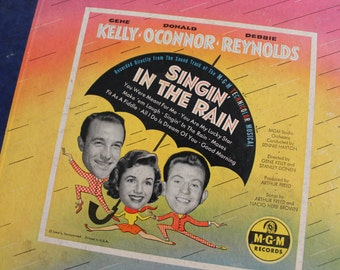 Vintage Singin In The Rain Record, Albums, Set, Movie, Gene Kelly, Donald Oconnor, Debbie Reynolds, MGM Records