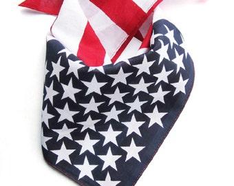 American flag bandana / american flag headband / twisted headband/ can use as neck tie / mask napkin / july 4th accessories