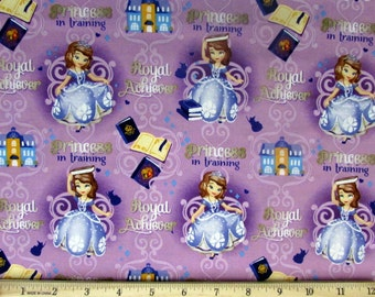 Sale!! Disney's Sofia the First Fabric From Springs Creative