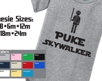 PUKE SKYWALKER Star Wars Baby Onesie Luke Skywalker