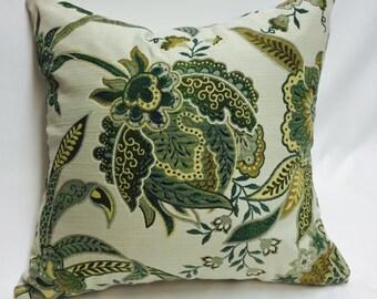 Green Jacquard Pattern Pillow Cover