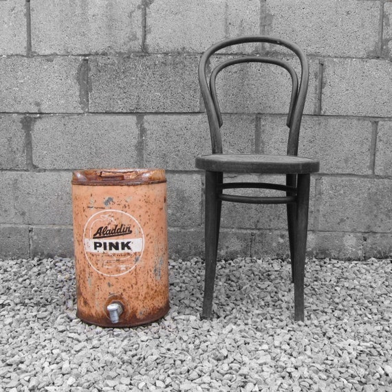 Aladdin Pink Oil Can Drum Paraffin Garge Workshop VW Roof Rack Display 5 Gallon