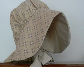 Ladies Sun Bonnet, Farm, Yard Work, Pioneer, Frontier, Costume