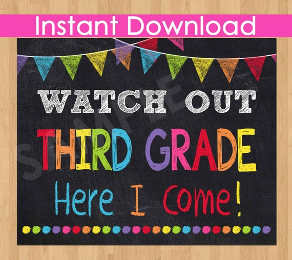 It is an image of Dynamic First Day of 3rd Grade Printable