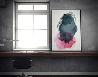 Large Watercolor Print. Abstract Art. Large Art Print. Large Abstract Print. Modern Abstract. Colorful Abstract Art Print. Gift Guide