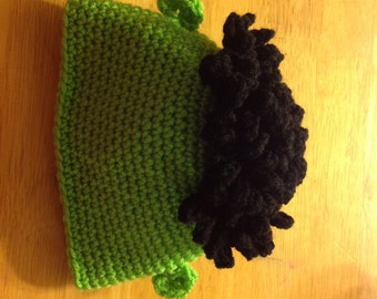 Frankenstein halloween inspired Beanie Hat Sizes from newborn to adult .. made to order