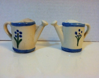 Vintage Watering Can Salt and Pepper Shakers