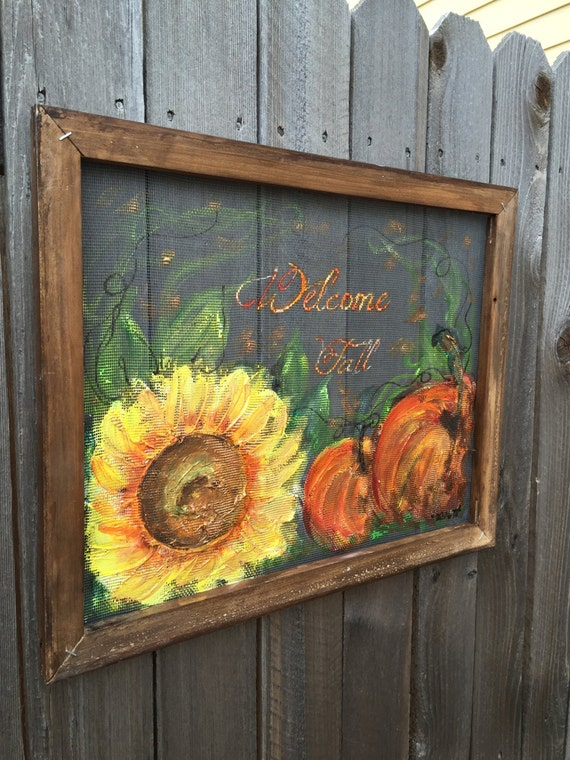 Items similar to Welcome fall signHand painting window