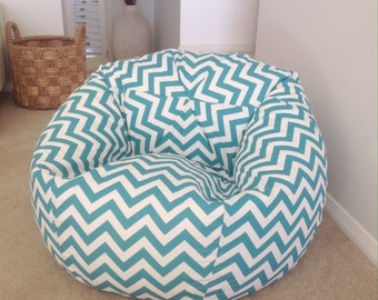 Bean Bag Chevron Turquoise Pink Yellow Zig Zag Cover