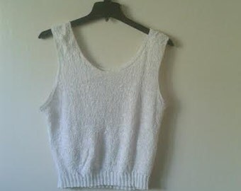 Super 90's knitted sleeveless top