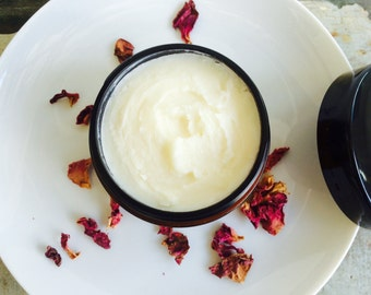 Whipped Body Butter Rose Blend. A Luxurious Natural Skin Moisturizer. Healing. Nourishing. Protects. Plant-Based. Vegan Skin Care
