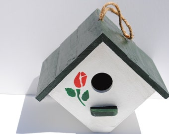 Price Reduced! Hand Painted Wooden Bird House