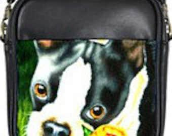 Boston Terrier Leather Mini Purse!