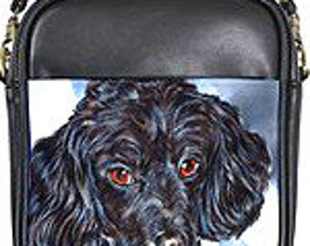 Black Poodle Leather Sling Purse!