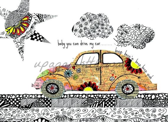 Drive Lyrics Cars: Doodle Bug. Beatles Lyrics. Baby You Can Drive My Car