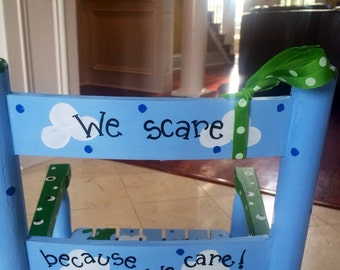 Custom Hand Painted Child's Rocking Chair