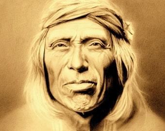 SHIWAWATIWA - Zuni Indian Portrait on Canvas