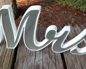 Mr and Mrs, Wedding Mr and Mrs, Mr and Mrs Wedding Sign, Gray Mr and Mrs Sign, Mr and Mrs Wedding Decor, Mr Mrs Reception, Custom Mr and Mrs
