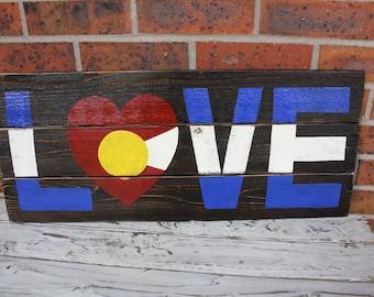 Colorado Flag, Colorado Flag Art, Rustic Colorado Flag, Colorado Flag Wall Art, Colorado State Flag, Colorado Gift