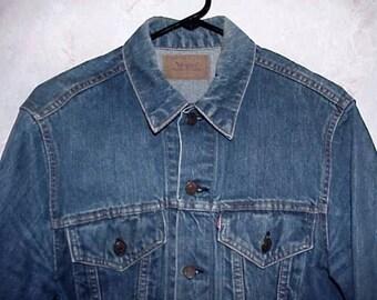 Original LEVIS BIG E Denim Jacket Mellow Indigo Blue 1960's Era