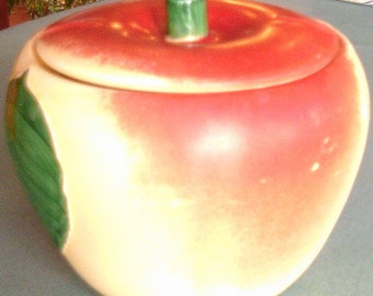 Vintage Hull  Juicy Apple Grease Jar with Lid - 1940's