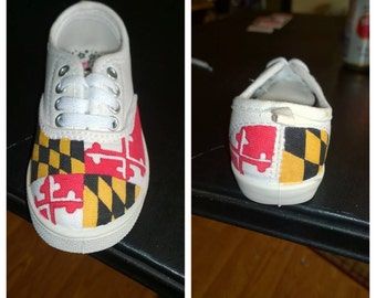 Toddler Maryland Flag Shoes