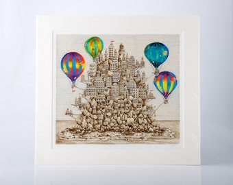 """Limited Edition Print """"The Only Space Left Is Floating"""" by Jenny Laidlaw"""