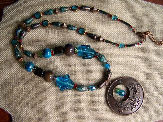 Pendant Necklaces,Beaded Jewelry,Brass jewelry,Geometric jewelry,Tree of Life Pendant Necklace, #42