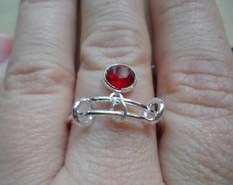 Birthstone Charm Ring
