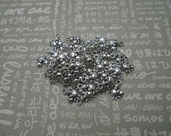 50pcs antique silver color metal crab charm , metal crab pendant , 13x12mm , CP1048
