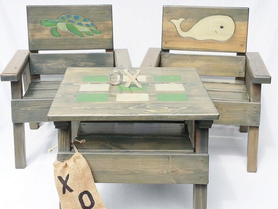 Kids Nautical Table and Chair Set Childrens Table & Chairs