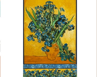 IRIS by Van Gogh Museum from Vincent Van Gogh from Robert Kaufman Fabric by the Panel