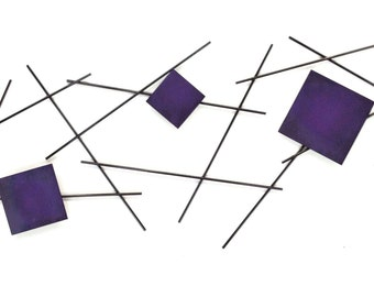 7055 inc Pickup Stix in Electric Purple Metal Wall Art
